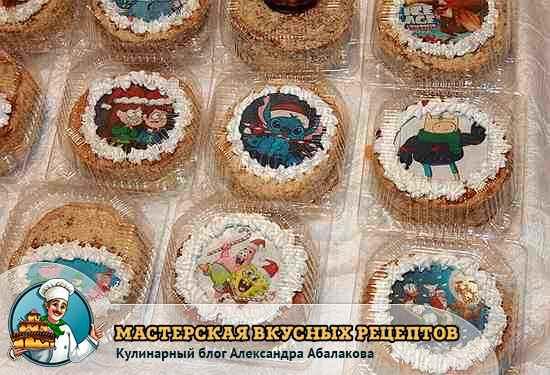 мини медовые тортики