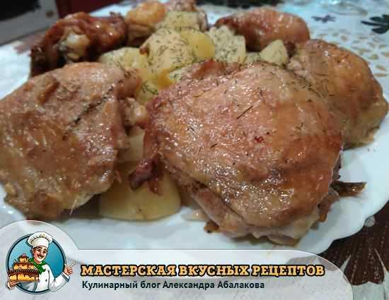рецепт курицы с чесноком