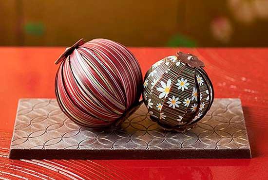 шоколадные шарики темари