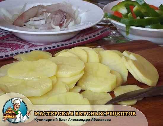 картофель ломтиками для рыбы