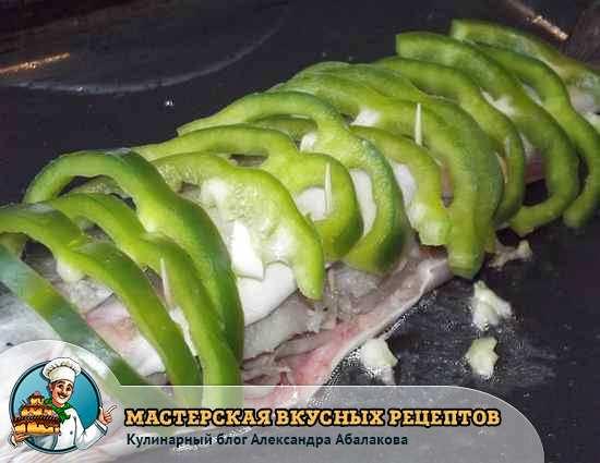 перец на рыбе
