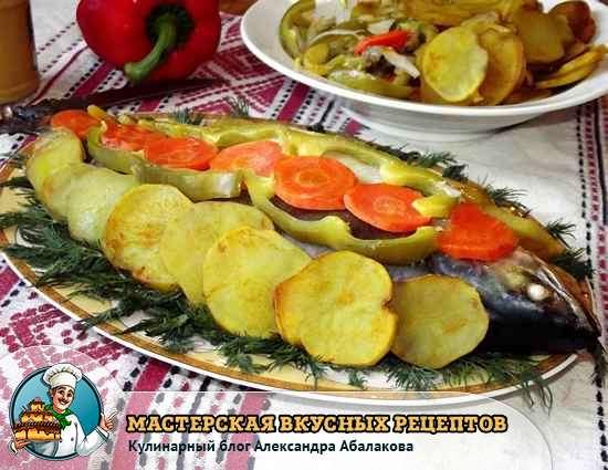 рецепт запеченной рыбы с картошкой