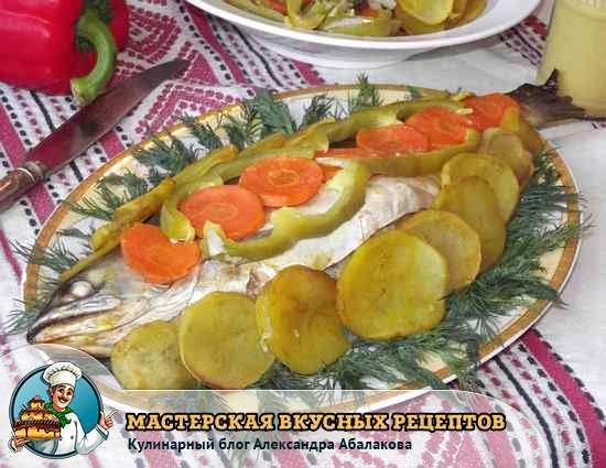 украсить рыбу овощами