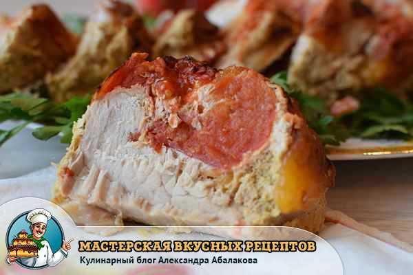 кусочек запеченной свинины