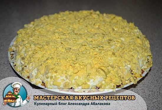 салат похожий на торт