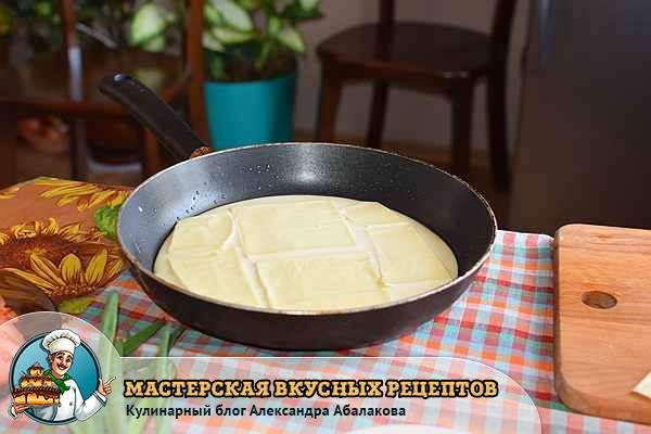 сыр на тесте