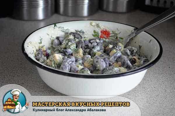 салат с сыром заправить майонезом