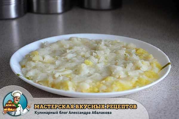 салатный слой из картошки