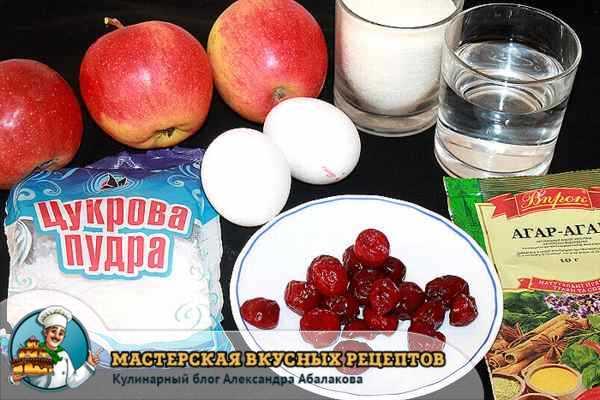 яблоки агар-агар