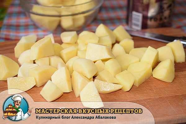 картошка большими кубиками