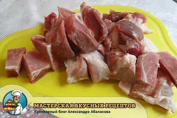 кусочки мяса для фарша