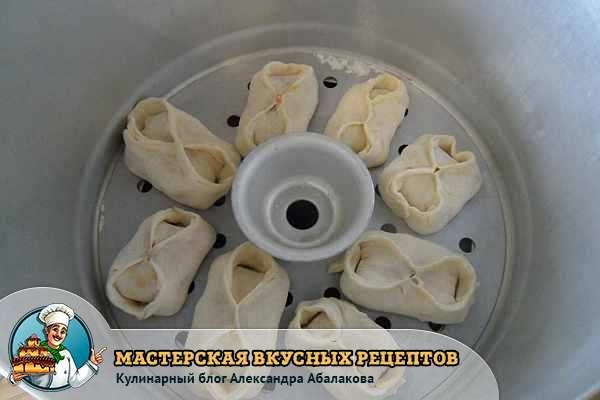 узбекское блюдо в пароварке