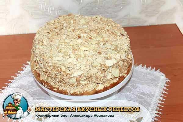 Сметанный торт классический рецепт с пошагово