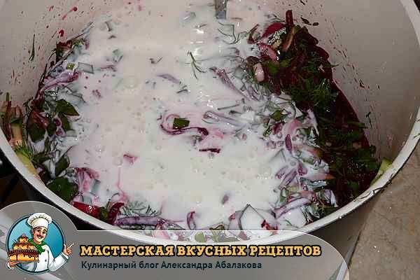 кефир с овощами