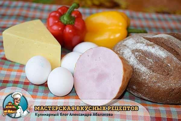 колбаса сыр хлеб перец