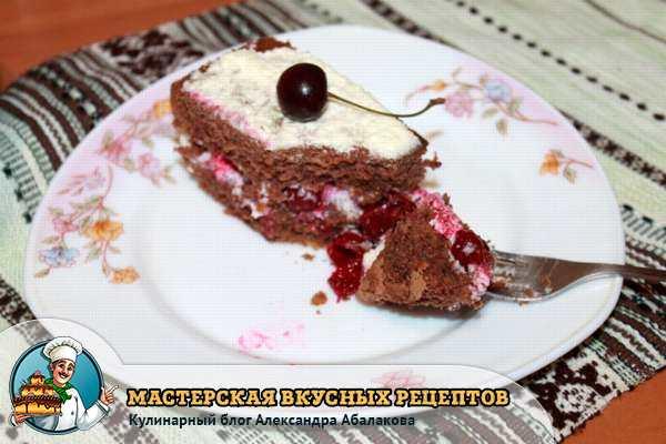 кусочек вишневого торта