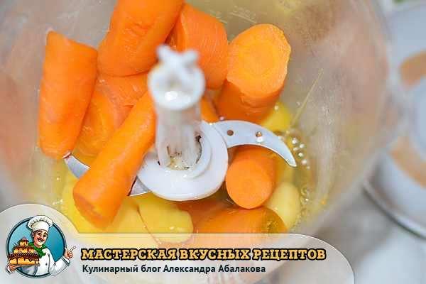 морковь с яйцами в блендере