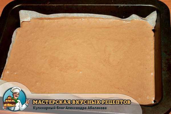 шоколадное тесто в форме