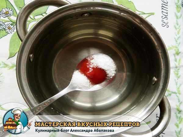 ложка с кетчупом