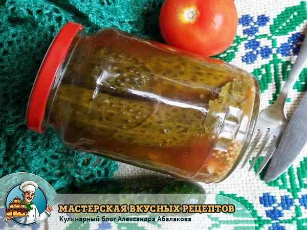 огурцы на зиму в томатном соусе