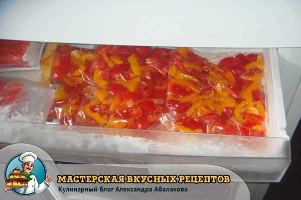 овощи в морозилке в пакетах