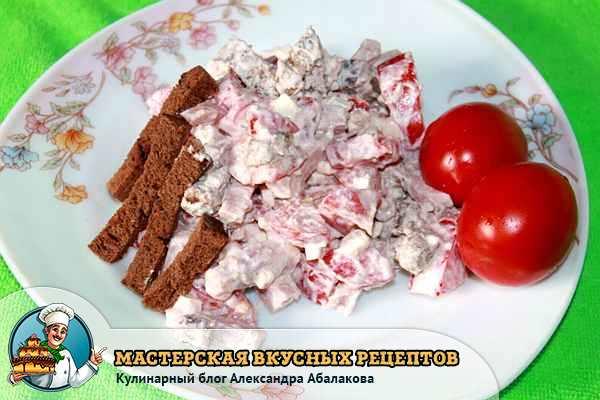 Салат из куриного рулета рецепты с фото