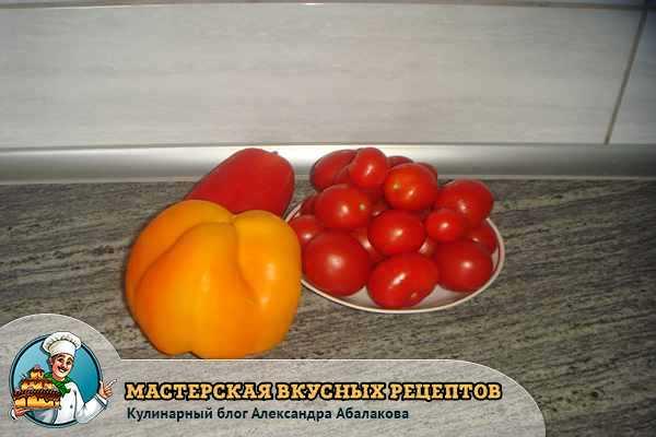 свежие перцы и помидоры