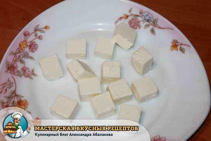 сыр фета кубиками