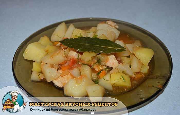 картошка тарелка лавровый лист