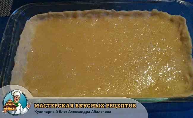 лимонная начинка на тесте