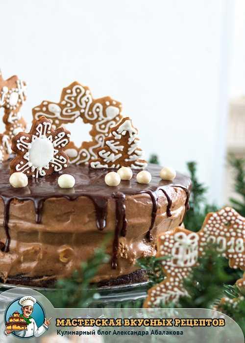 красиво украшенный торт ферреро