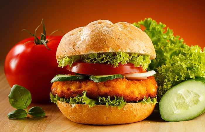 гамбургер быстрая еда