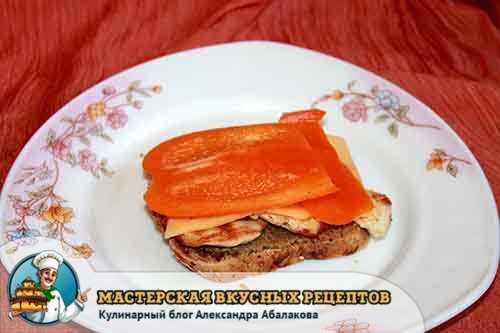 красный перец с сыром