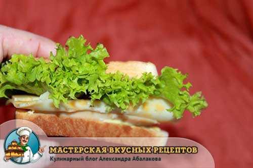 салат между хлебом