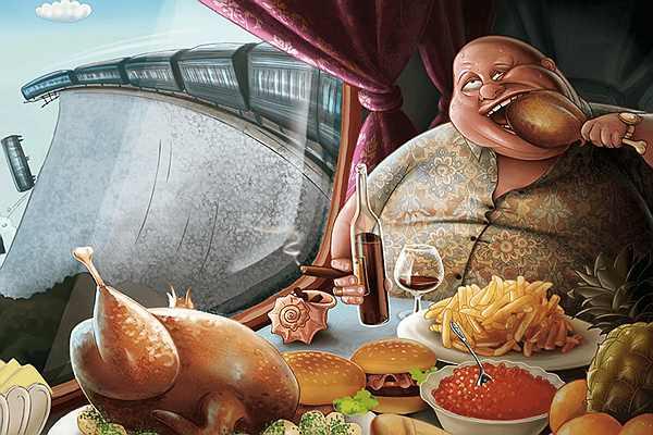 полная зависимость от еды
