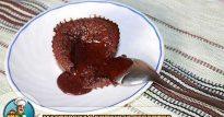 Шоколадный фондан с жидкой начинкой: пошаговый рецепт с фото