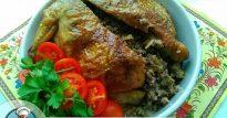 Ароматная гречка с курицей— запеченной в духовке целиком