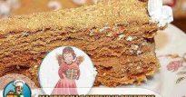 Торт Рыжик — классический рецепт с медом и кремом из сгущенки