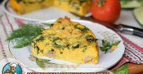 Морковный омлет «Оранжевое лето» со шпинатом и сыром