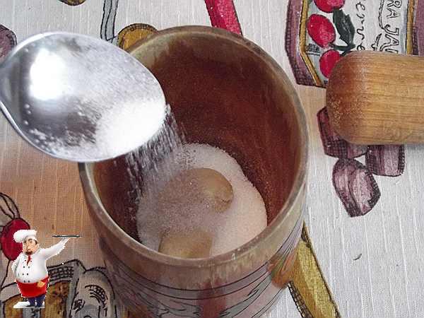 солю чеснок