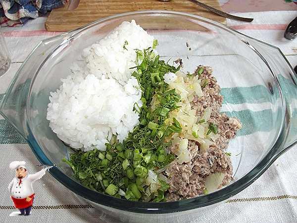 добавляю рис к консервам
