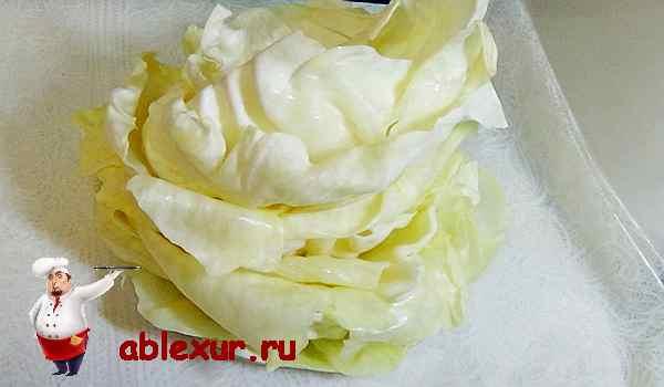 капустные листья для голубцов в духовке