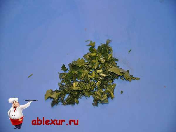 зелень для начинки куриных рулетиков