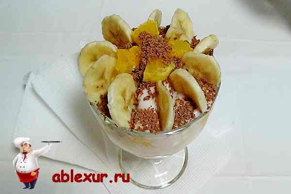 фруктовый салат рецепт с фото с йогуртом