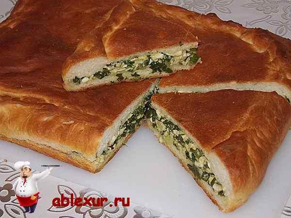Пирог с луком и яйцом – 4 рецепта как в деревне