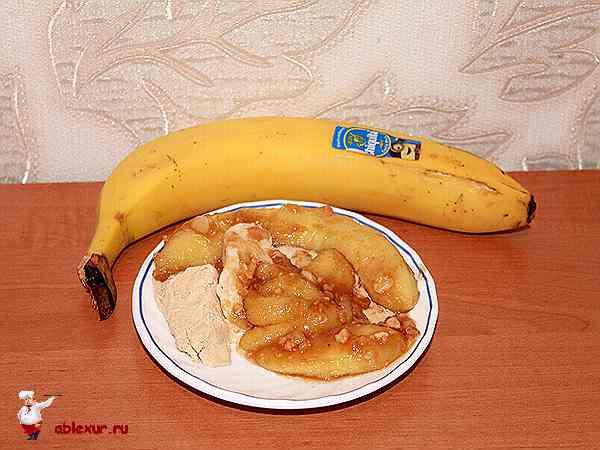 жареный банан в карамели рецепт