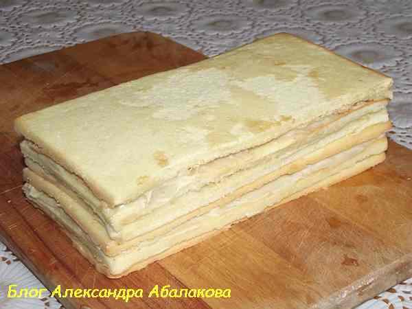 рецепт бисквитного торта со сгущенкой