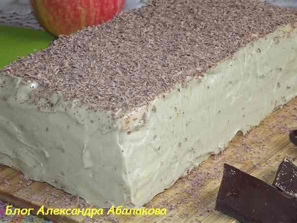 торт из бисквитных коржей со сгущенкой