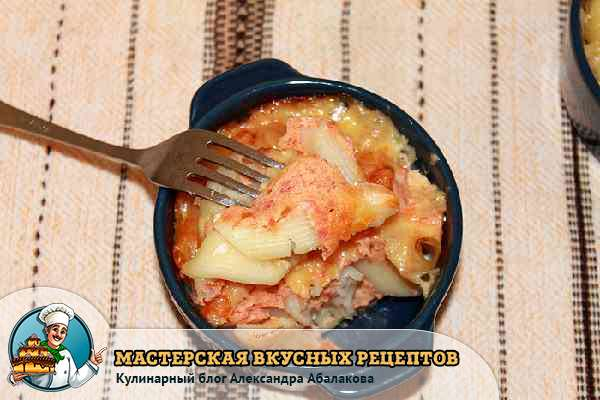 рецепт с фото запеканки из макарон и сыра