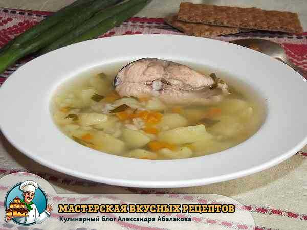 рецепт с фото супа из горбуши